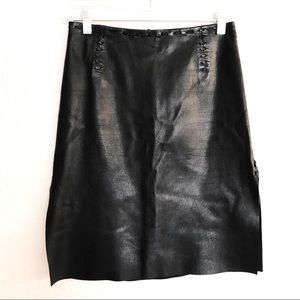 Guess Collection Genuine Leather Pencil Skirt